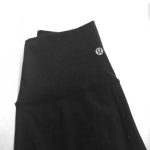High-waisted black lululemon leggings